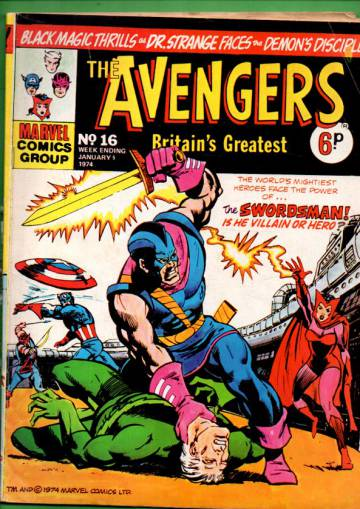 Avengers #16 Jan 74