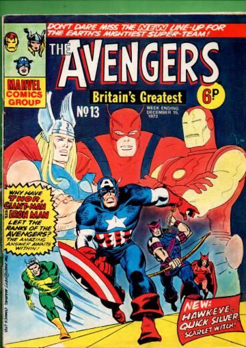 Avengers #13 Dec 73