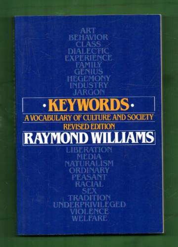 Keywords - A vocabulary of culture and society