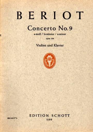 Concerto No. 9, a-moll / la-mineur / a-minor, für Violine und Orchester (opus 104)
