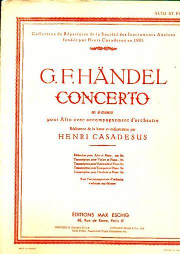 Concerto en si mineur pour Alto avec accompagnement d'orchestre