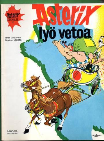 Asterix 16 - Asterix lyö vetoa (1. painos)
