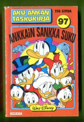 aAku Ankan taskukirja 97 - Ankkain sankka suku (1.painos)