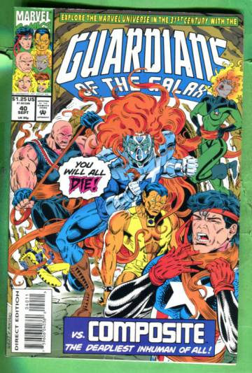 Guardians of the Galaxy Vol 1 #40 Sep 93