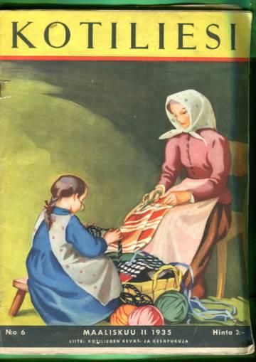 Kotiliesi N:o 6/1935 (Martta Wendelin)