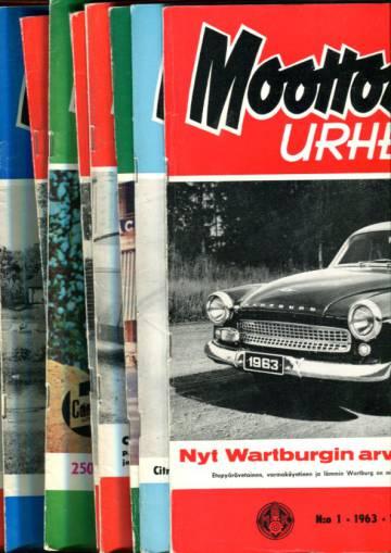Moottoriurheilu - Vuosikerta 1963 (numerot 1-12)