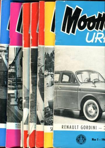 Moottoriurheilu - Vajaa vuosikerta 1962 (numerot 1-3 ja 5-12)