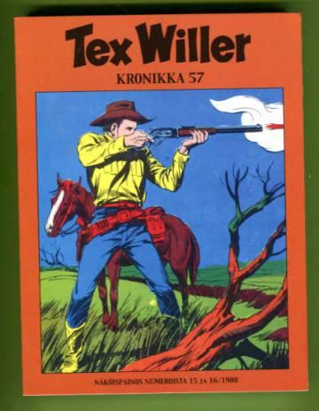 Tex Willer -kronikka 57 - Uhka rajan takaa/Kultakaupungin konnat/Pyramidin arvoitus