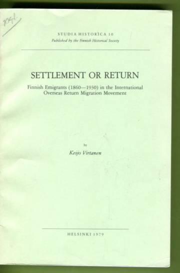 Settlement or Return
