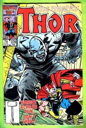 Thor Vol 1 #376 Feb 87