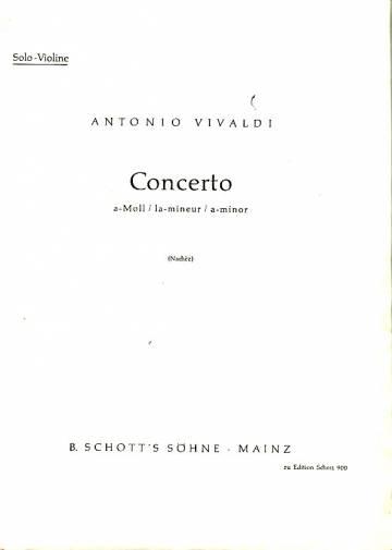 Concerto - A-Moll / la-mineur / a-minor