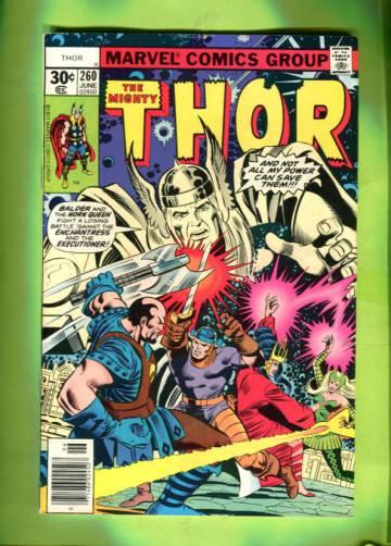 Thor Vol 1 #260 Jun 77