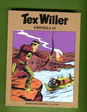 Tex Willer -kronikka 61 - Keltainen koira/Vieras Elk Cityssä