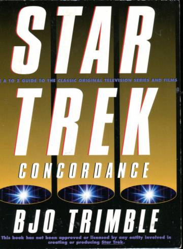 Star Trek Concordance - The A to Z Guide to the Classic Original Television Series and Films