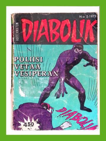 Diabolik 2/75 - Poliisi vetää vesiperän