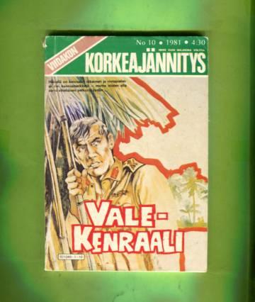 Viidakon Korkeajännitys 10/81 - Valekenraali