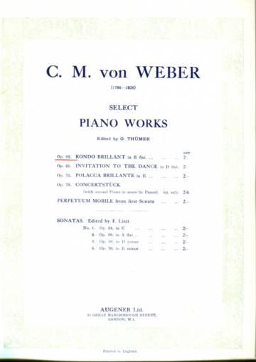 Select Piano Works - Op. 62. Rondo Brilliant in E flat