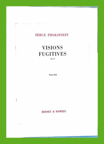 Visions Fugitives Op.22 - Piano solo