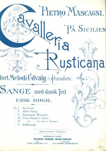 Cavalleria Rusticana, Nr. 1., Siciliana