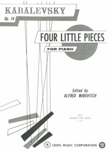 Four Little Pieces for Piano Op. 14