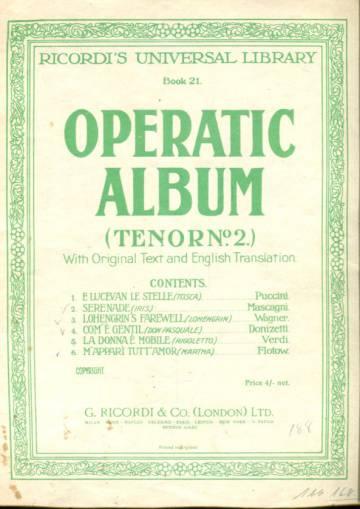 Ricordi's Universal Library Book 21 - Operatic Album