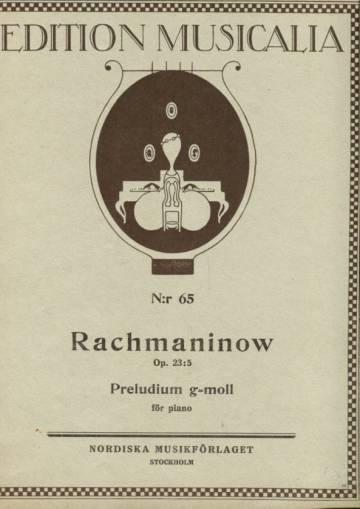 Preludium g-moll för piano (Op. 23:5)