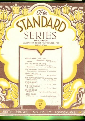 The Standard Series Book Twelve - Celebrated Songs Transcribed for Piano Solo