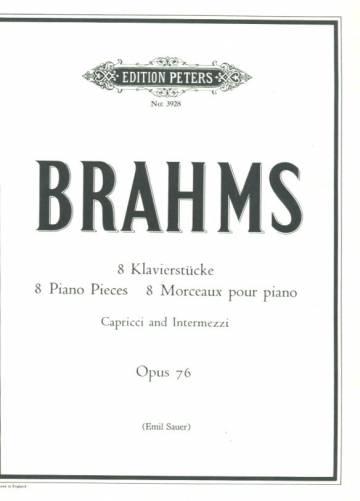 Brahms - 8 Klavierstucke/ 8 Piano Pieces / 8 Morceaux pour Piano