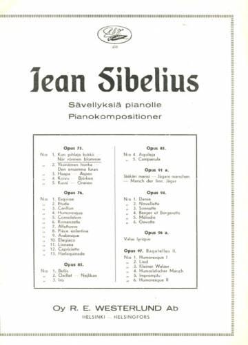 Sävellyksiä pianolle / Pianokompositioner, Op. 75 N:o 1, Kun pihlaja kukkii - När rönnen blommar