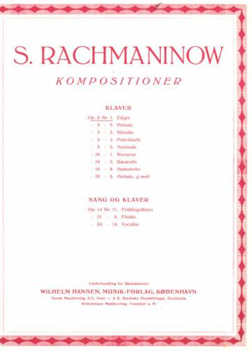 Kompositioner, klavier, Op. 3 Nr. 1, Elégie