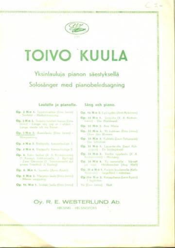 Yksinlauluja pianon säestyksellä, laululle ja pianolle, Op. 2 N:o 3, Aamulaulu