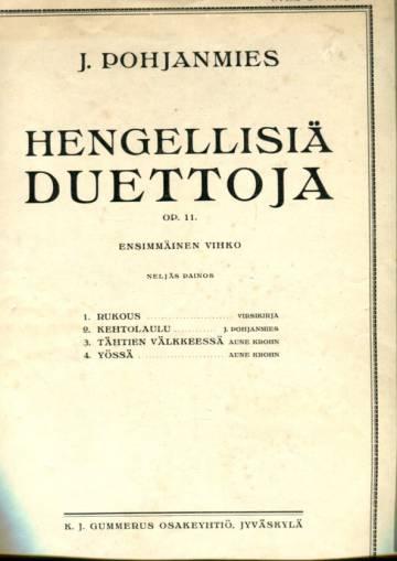 Hengellisiä duettoja Op. 11 - Ensimmäinen vihko