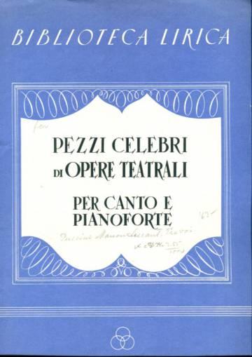 Pezzi celebri di opere teatrali, per canto e pianoforte (Manon Lescaut, Atto I, Canzone)