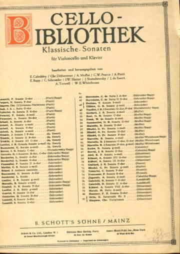 Cello-bibliothek - Klassische Sonaten für Violoncello und Klavier, Nr. 61, 2 Sonaten: C-dur, G-dur