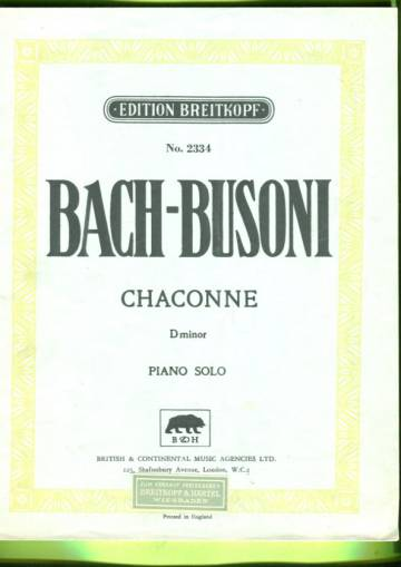 Chaconne D minor