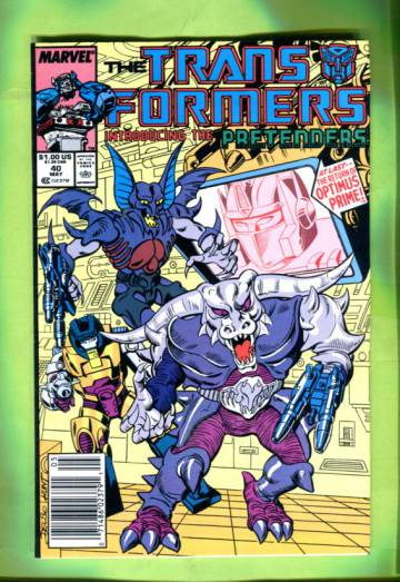 The Transformers Vol 1 #40 May 88