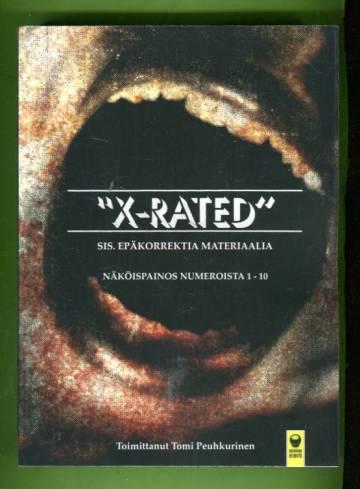 X-rated - Näköispainos numeroista 1-10