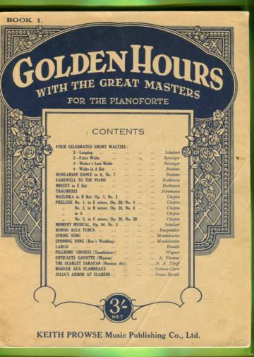 Golden Hours with the Great Masters for the Pianoforte - Book 1