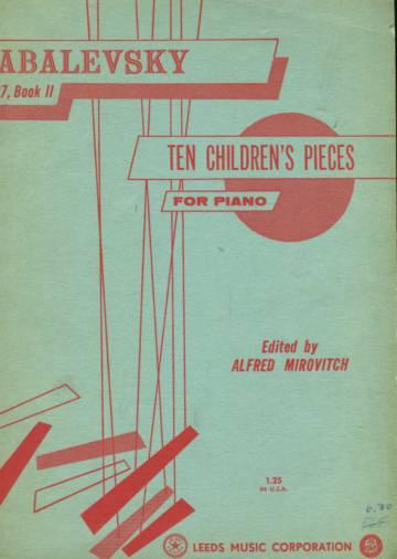 Ten Children's Pieces, Op. 27, Book 2