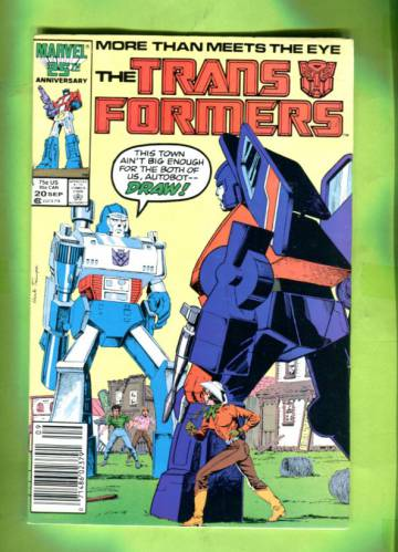 The Transformers #20 Sep 86
