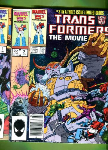 The Transformers: The Movie #1-3 Dec 86-Feb 87 (Whole miniserie)