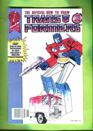 The Official How to Draw Transformers #1 Nov 87