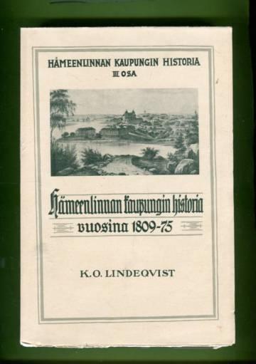 Hämeenlinnan kaupungin historia 3 - Hämeenlinnan kaupungin historia vuosina 1809-75
