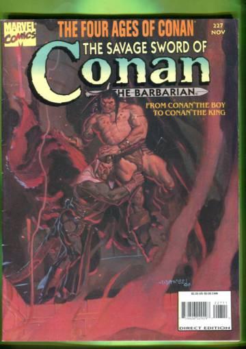 The Savage Sword of Conan the Barbarian Vol 1 #227 Nov 94