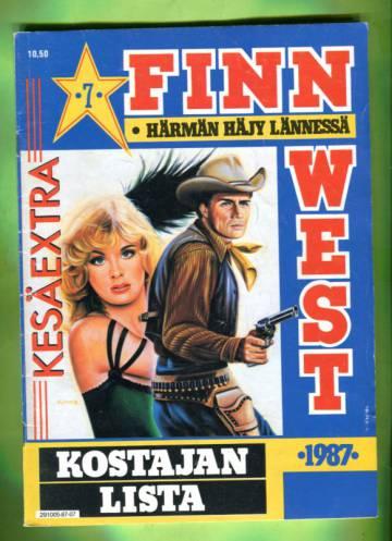 Finn West 7/87 - Kostajan lista