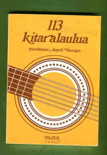 113 kitaralaulua