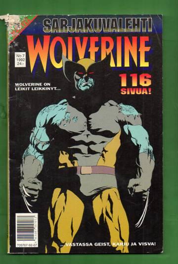 Sarjakuvalehti 7/92 - Wolverine