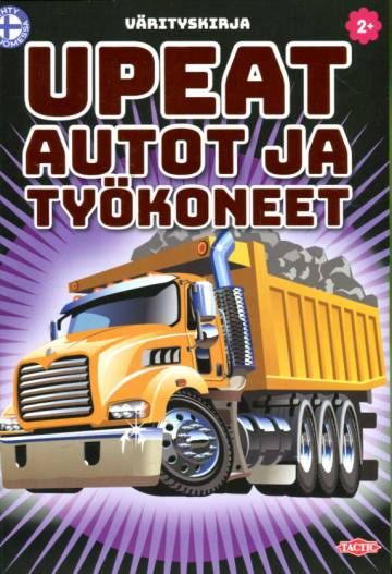Upeat autot ja työkoneet - Värityskirja