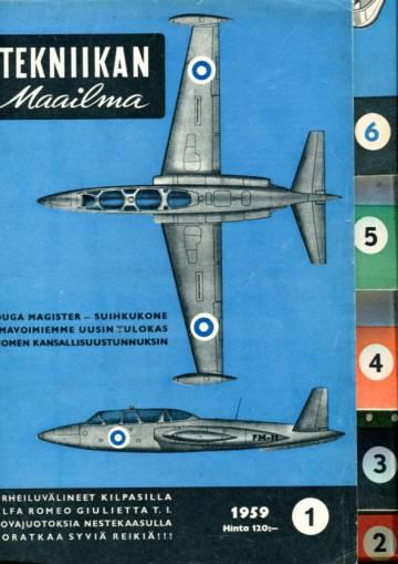 Tekniikan maailma -vuosikerta 1959 (numerot 1-12)