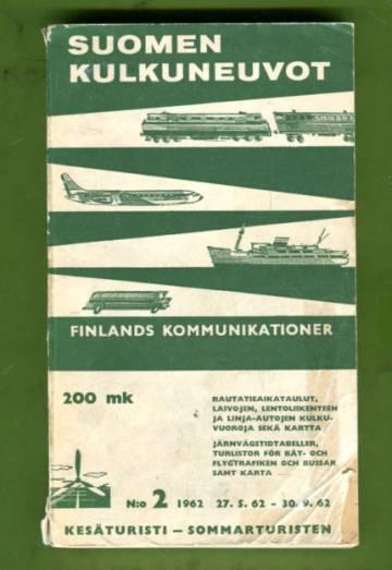 Suomen kulkuneuvot - Finlands kommunikationer n:o 2/62